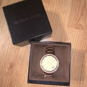 Women's Rose Gold Michael Korda Watch